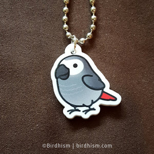 Chubby African Grey Necklace