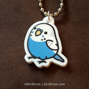 Chubby Blue Budgie Necklace