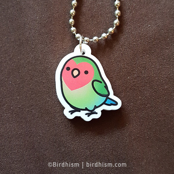 Chubby Peach-faced Lovebird Necklace