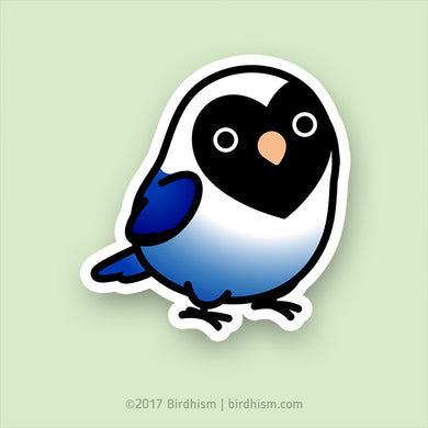 Chubby Black-masked, Violet Lovebird Stickers