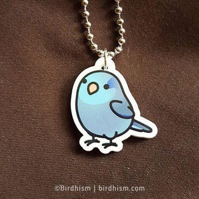 Chubby Blue Parrotlet Necklace