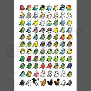 The Chubby Bird Collection Prints