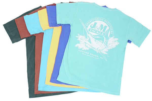 J&M Tackle Pigment-Dyed Short Sleeve Logo Tee
