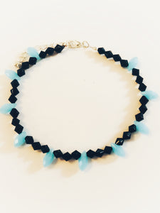 Blue Drops Anklets