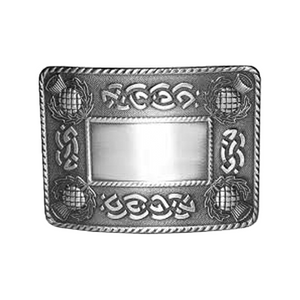 Belt Buckle | Celtic Knot & Thistle