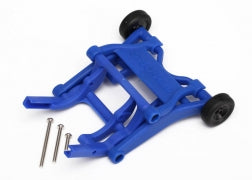 Traxxas TRA3678X Wheelie bar, assembled (blue) (fits Slash, Stampede, Rustler, Bandit series)