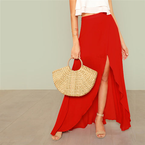 RED ALERT SPLIT SKIRT