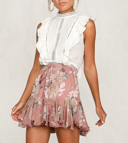 PRETTY IN PINK PETALS SKIRT