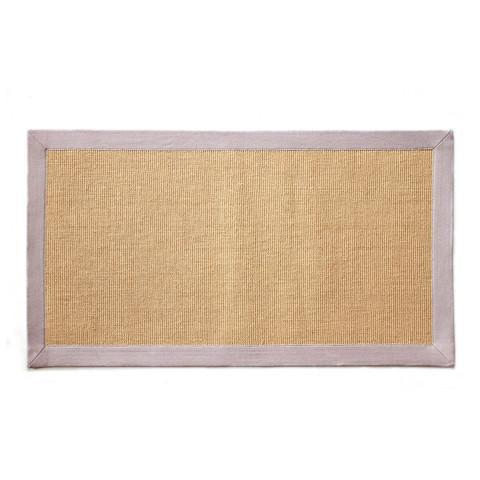 Jute Mat with Off-White Color Cotton Border