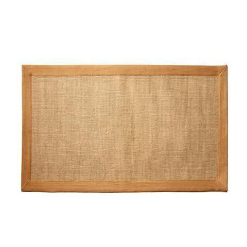 Jute Mat with Off-Yellow Color Cotton Border