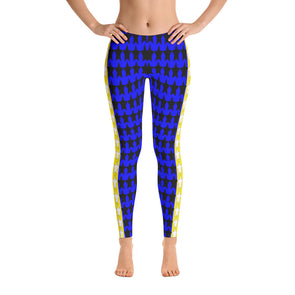 Blue and Yellow All-star Leggings