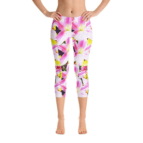 Mark Savior Flower Print Capri Leggings