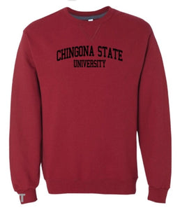 Chingona State Crewneck Sweatshirt- Red