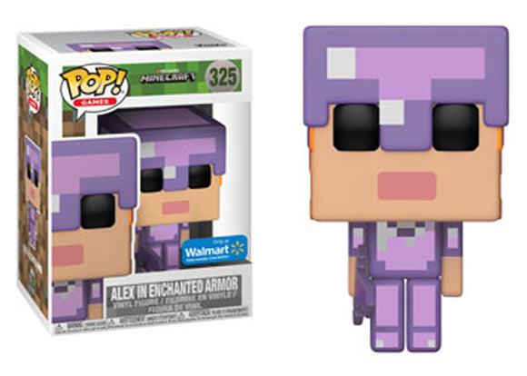 Pop! Games: Minecraft - Alex In Enchanted Armor (Walmart Exclusive) - Mom's Basement Collectibles