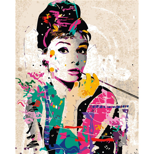 Abstract Audrey Hepburn