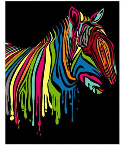 Abstract Colorful Zebra