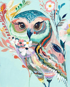 Abstract female owl