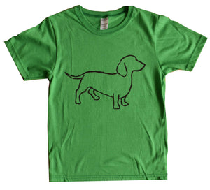 Kid's and Youth Ring Spun Cotton - Daschund Design