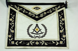 D2515 Apron Past Master (Bullion)  14 x 16 REAL LEATHER