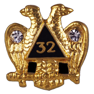 D214 Lapel Pin 32nd Scottish Rite with Stones