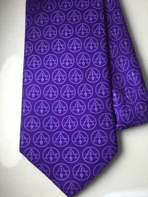 D2149 Tie Council (Purple) 100% Silk
