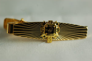 D228PEC Tie Bar Sunburst York Rite Past Eminent Commander Logo