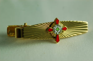 D290TB Tie Bar Sunburst Scottish Rite KCCH Logo