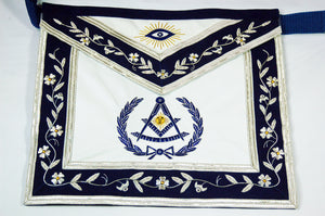 D2516 Apron Past Master (Bullion) 14 x 16 REAL LEATHER