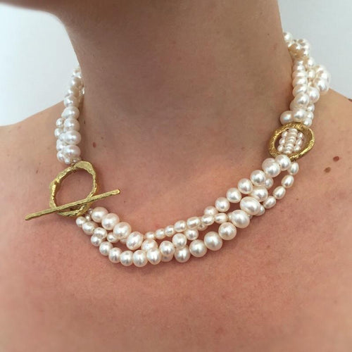 Serendipity Plaited Pearl Necklace ,[product vendor],JewelStreet