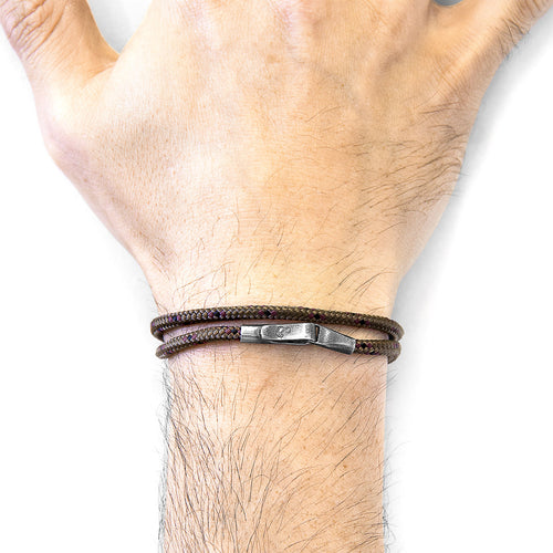Brown Liverpool Silver and Rope Bracelet ,[product vendor],JewelStreet
