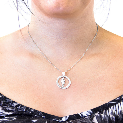 Ice Cream Disc Paradise Silver Necklace Pendant ,[product vendor],JewelStreet