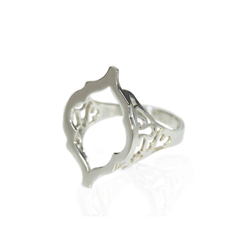 Sterling Silver Arch Hollow Ring ,[product vendor],JewelStreet