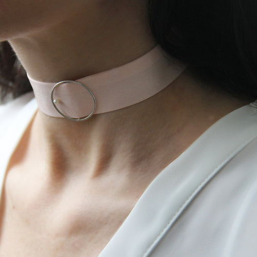 Silk And Pearl Halo Blush Choker