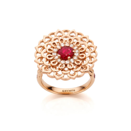 18kt Rose Gold Morning Star Ring ,[product vendor],JewelStreet