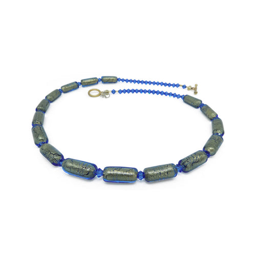 Murano Glass Bead Into The Blue Necklace ,[product vendor],JewelStreet