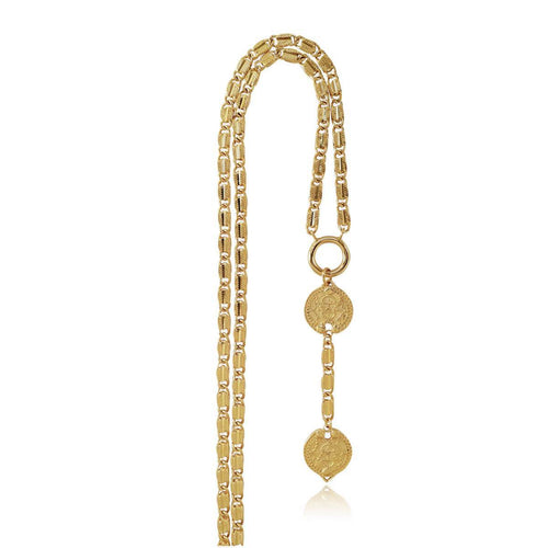 14kt Gold Plated Karshapana Necklace ,[product vendor],JewelStreet