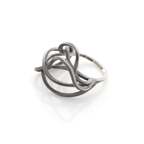 Oxidised Sterling Silver Large Tangled Ring ,[product vendor],JewelStreet