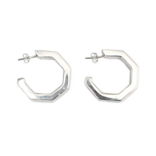 Sterling Silver MARINA Large Hoops ,[product vendor],JewelStreet