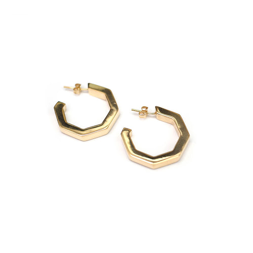 Yellow Gold Plated MARINA Small Hoops ,[product vendor],JewelStreet