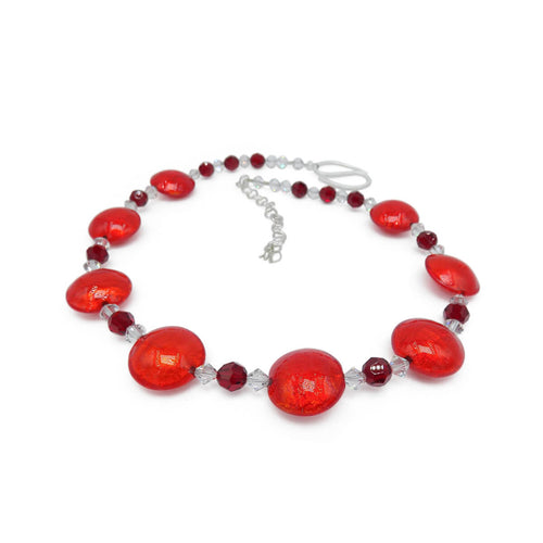 Murano Glass Bead Passionate Secret Necklace ,[product vendor],JewelStreet