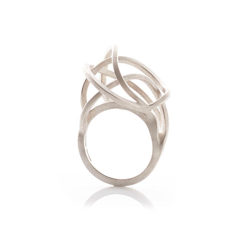 Sterling Silver Round Tangled Rings ,[product vendor],JewelStreet