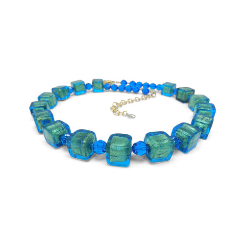 Murano Glass Bead Tropic Passion Necklace  ,[product vendor],JewelStreet