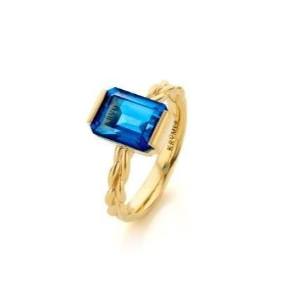 18kt Yellow Gold Braided Bliss Dina Ring  ,[product vendor],JewelStreet