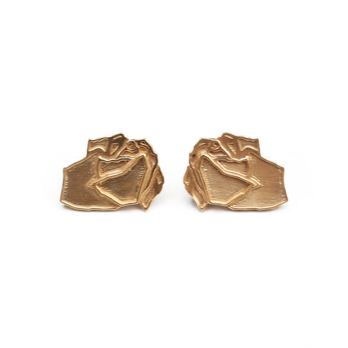 Yellow Gold Plated ROSIE Earrings ,[product vendor],JewelStreet
