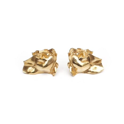 Yellow Gold Plated ROZA Earrings ,[product vendor],JewelStreet