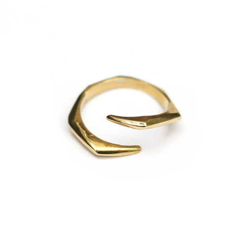 Yellow Gold Plated SAYA Ring ,[product vendor],JewelStreet