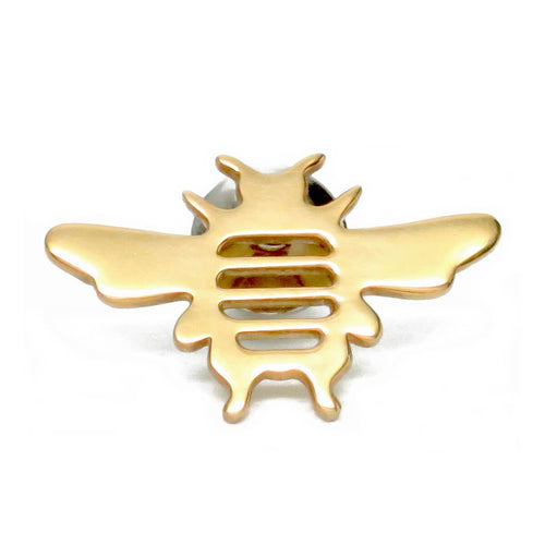 18kt Gold Vermeil Whitney Bee Lapel Pin Brooch