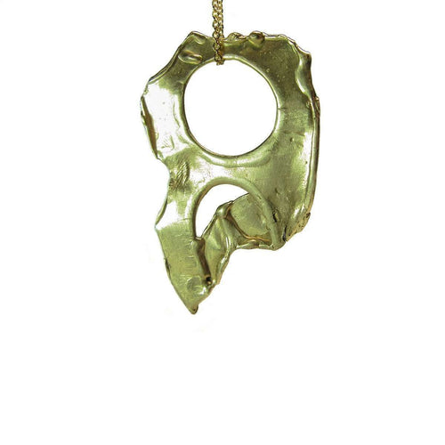 Descending Nude No. 1 14kt Gold Pendant ,[product vendor],JewelStreet EU
