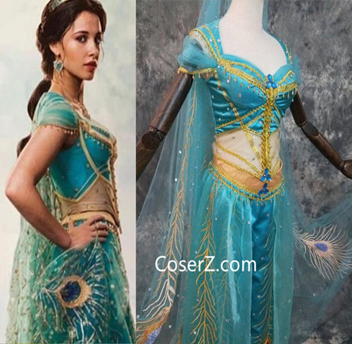 Aladdin 2019 Princess Jasmine Costume Live Action Outfits for Adults