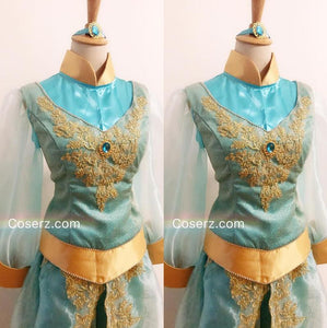 Princess Jasmine Costume for Adults Girl Women, Princess Jasmine Dress Park Version